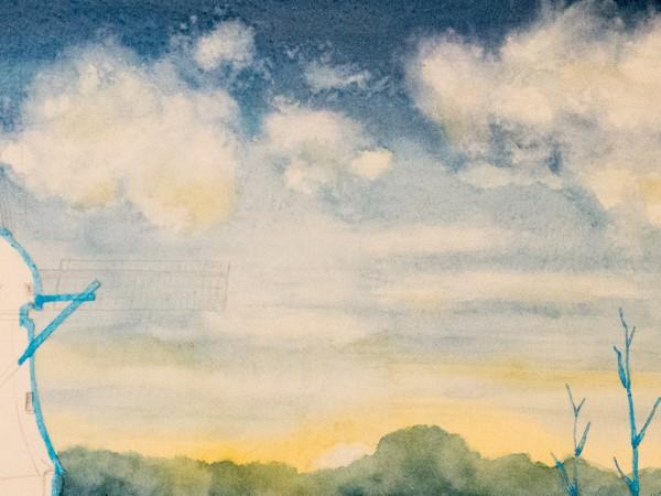 Schritt 4 - Himmel und Wolken