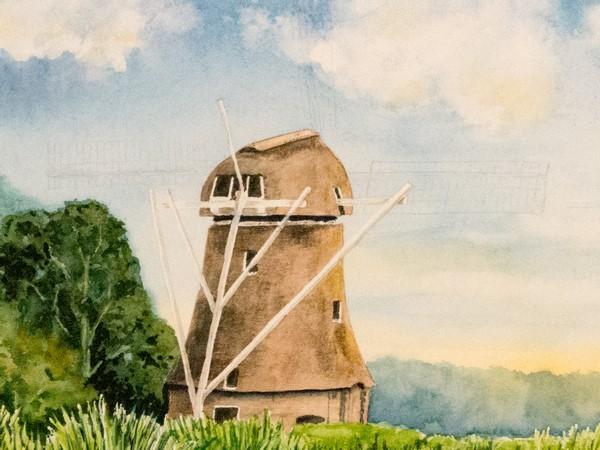 Schritt 13 - Komplettierung der Windmühle
