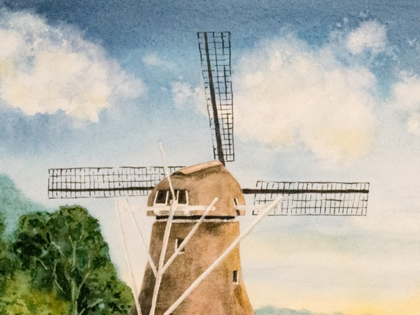Schritt 14 - Flügel der Windmühle